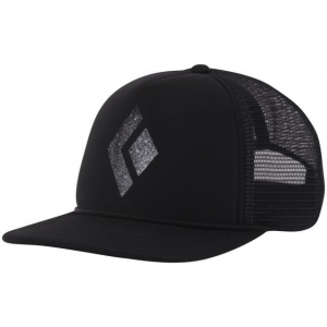 Black Diamond Flat Bill Trucker Hat - Men's-Captain/Black