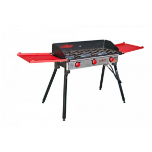 Camp Chef Pro 90X - 3 Burner Stove, Black and Red