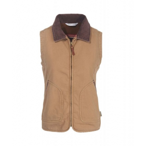 Demo,Woolrich Women's Dorrington Vest, Sediment, M