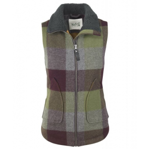Demo,Woolrich Women's Giant Buffalo Wool Vest II, Cool Gray, M