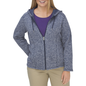 Dickies Women's Sweater Hooded Fleece Jacket, Extended Sizes