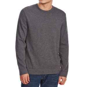 G.h. Bass & Co. Men's Long-Sleeve Crew Sweater With Elbow Patches - Black