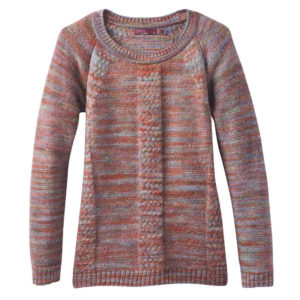 Prana Women's Kerrolyn Sweater - Red - Size XL