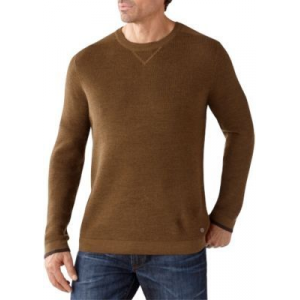 Smartwool Cheyenne Creek Crew Sweater - Mens, Caramel Heather, Small